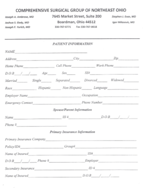 thumbnail of patient information form